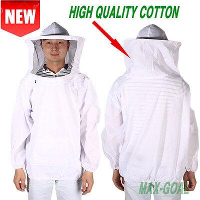 New Professional Cotton Beekeeping Bee Keeping Suit W Veil Hood Mg