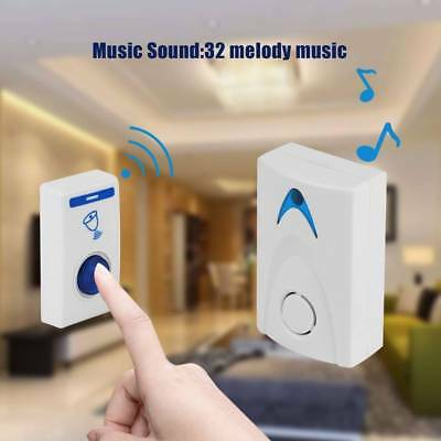 Electrical LED Wireless Remote control Chime Door Bell Doorbell 32 Tune Songs