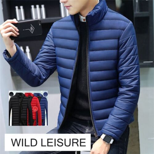 Details about Fashion Stand Collar Winter Men Jacket Cotton Padded Down Coats Thick Outwe xn