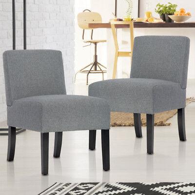 BestMassage Modern Design Fabric Armless Accent Dining Chair