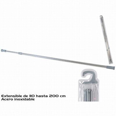 BARRA BAÑO EXTENSIBLE CROMADA 110-200 CM (23429)