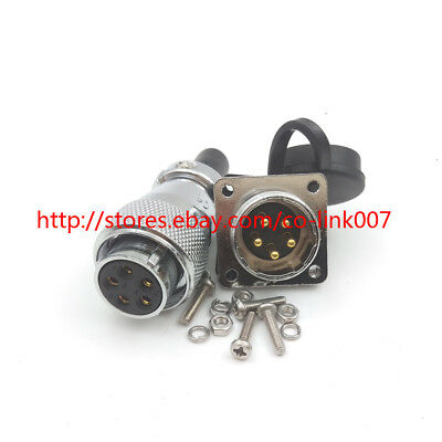 Ws20 5pin Waterproof Connector10a 500v High Voltage Power Cable Connector