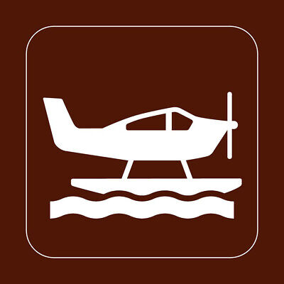 Square Metal Sign Multiple Sizes Sea Plane Recreation Parks Forestry Camping A
