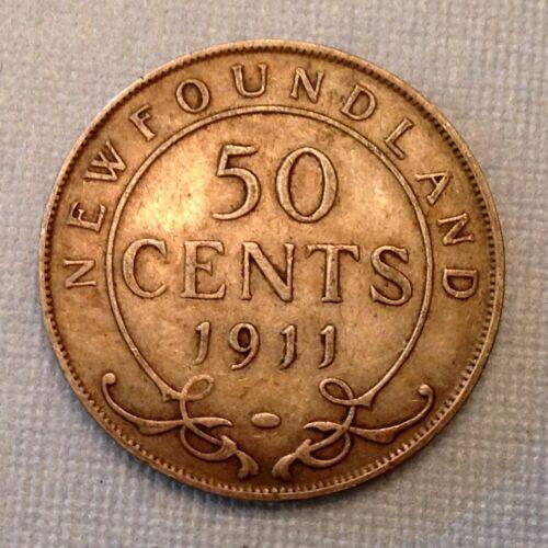 1911 Newfoundland Canada George V  50 Cents
