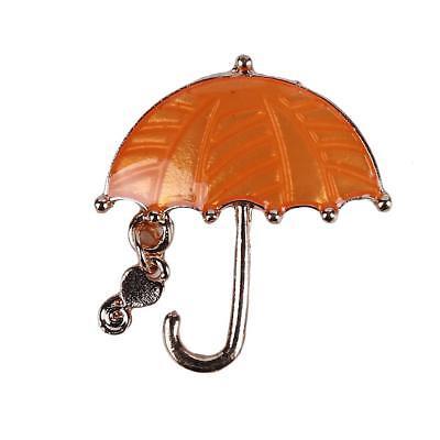 Creative Men & Women Umbrella Shaped Brooch Pins Costume Jewelry Gift Q - Creative Costume For Men