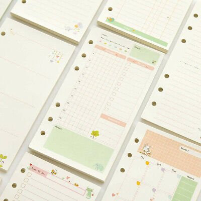 A5a6 Colorful Paper Month Week Ruled Planner Notebook Diary Schedule Refills S