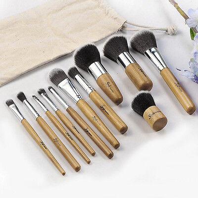 11tlg Make Up Pinsel Set Schminkpinsel Eyeliner Lidschatten Lip Kosmetik Kit