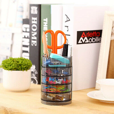 Office Desk Pen Pencil Holder Multifunctional Storage Organizer Desktop 4 Drawer