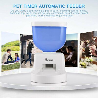 5L Automatic Pet Feeder Programmable Dog Cat Timed Auto Dispenser Voice Recorder Blue Pet Feeder