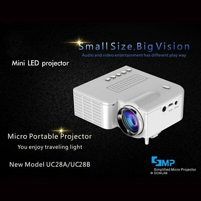 1080P Full HD LED Mini Portable Projector Home Theater Cinema AV VGA HDMI Lot KA