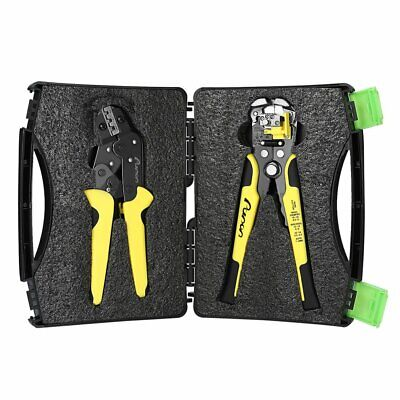 Ratcheting Wire Terminal Crimpers Crimping Pliers Cord End Terminals Tool 3 In 1