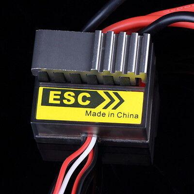 Brandneu 320A 6-12V Brushed Regler ESC W/2A BEC Schwarz für RC Boot Auto ZN