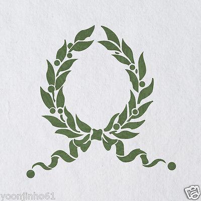 Laurel Wreath Leaf Stencils Country French stencil for Home Interior Decor