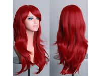 """New! Long Red """" Real to the feel"""" Wig."""
