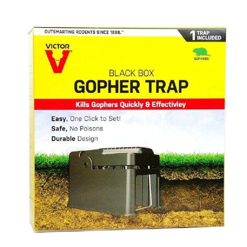Victor 0626 Black Box Animal Trap Gophers Kill Trap