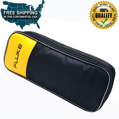 Fluke Soft Black Carrying Case 302 303 773 374 375 376 381 Clamp Meter Case