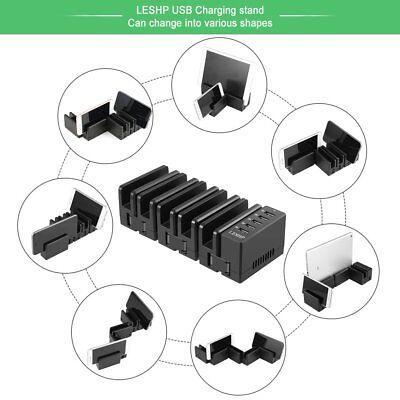 5 Port USB Ladegerät Hub Ladestation Dock Stand Desktop für Telefon Tablet Usb Desktop Dock