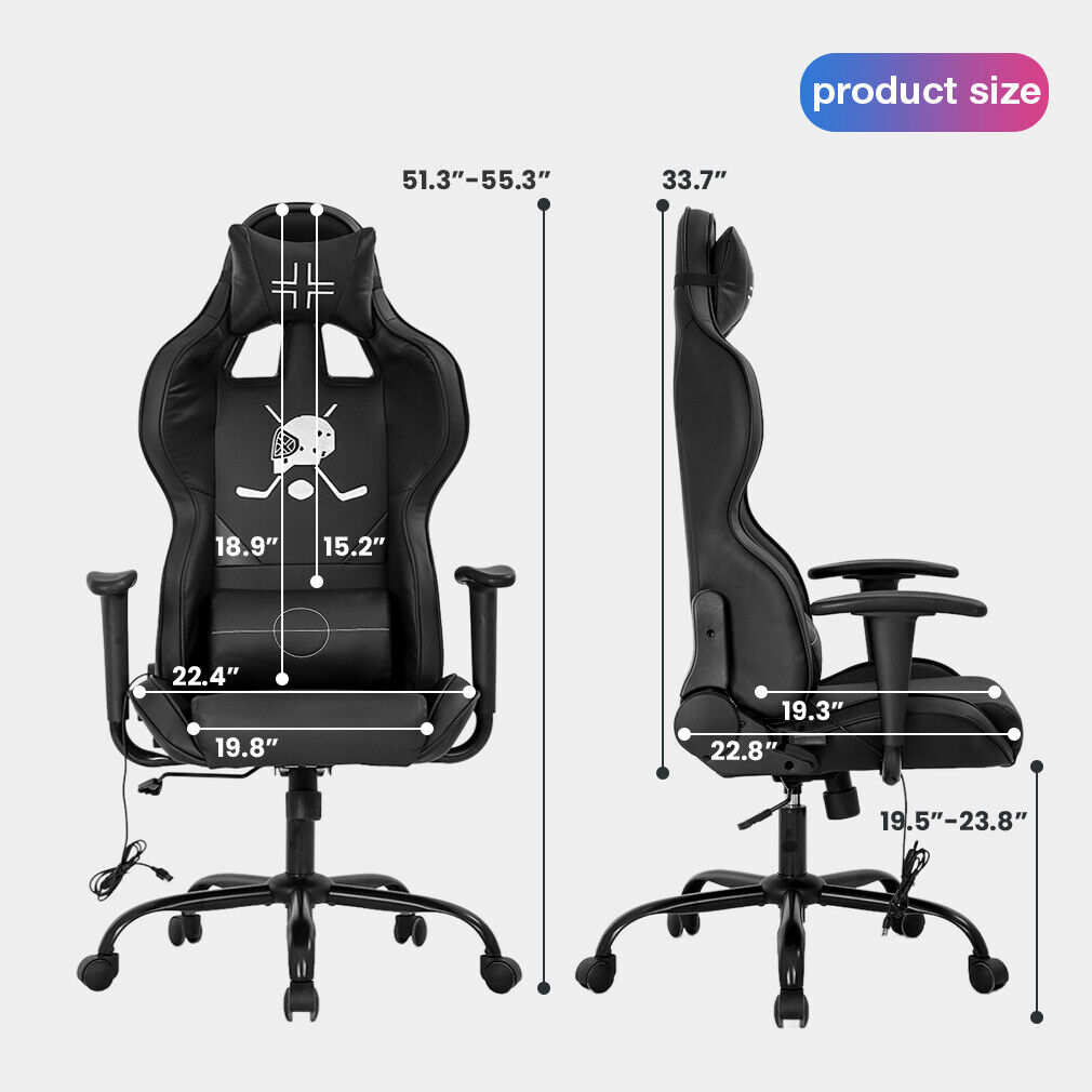 PC Gaming Chair Racing Office Chair Ergonomic Desk Chair with Lumbar Support Business & Industrial