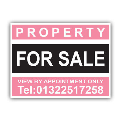 FOR SALE Personalised PROPERTY HOUSE Estate Agent Sign Boards x 2 CORPP00023