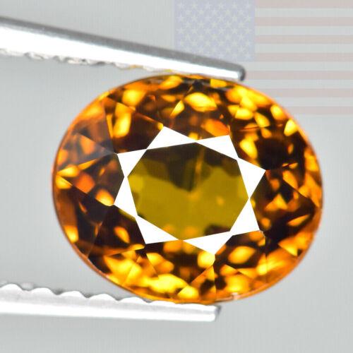 1.86CT MALI GARNET (GROSSULAR) PREMIUM GOLD CUT/COLOR HONEY OVAL GEMSTONE (MALI)