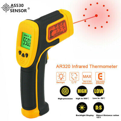Ir Infrared Gun Thermometer Temperature Thermal Heat Digital Sensor Temp Meter