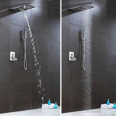 Wasserfall Unterputz Duscharmatur Duschsystem Duschset mit Regendusche Brause DE