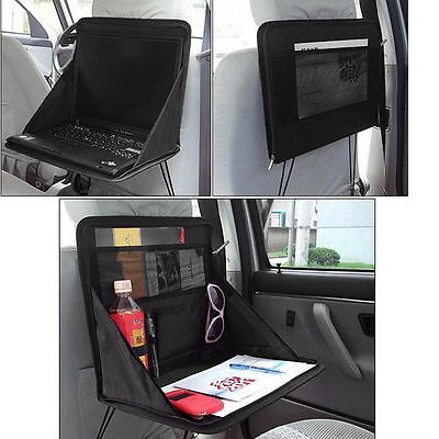 Folding Table Car Back Seat Storage Tidy Organiser DVD Laptop Holder Tray Travel