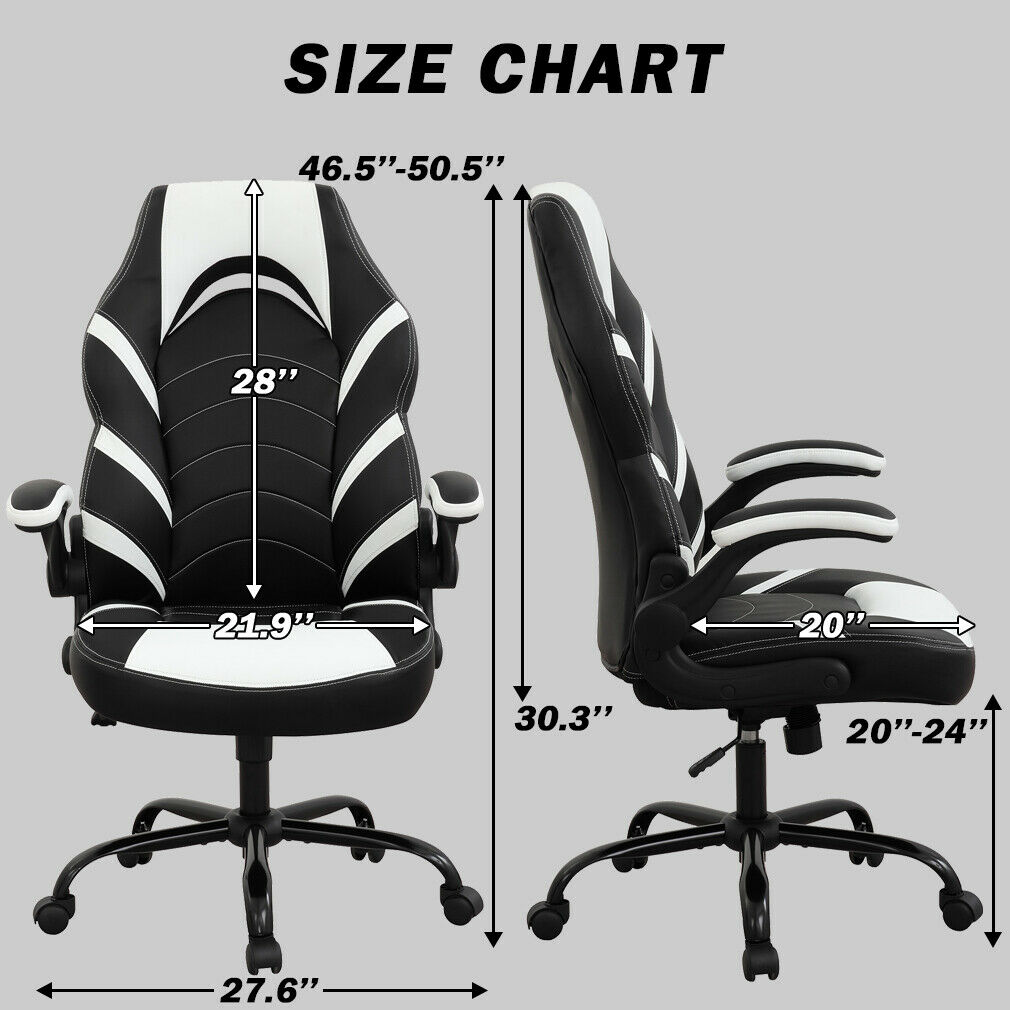 Gaming Chair Racing Office Chair PC Computer Chair with Lumbar Support Flip-up Business & Industrial