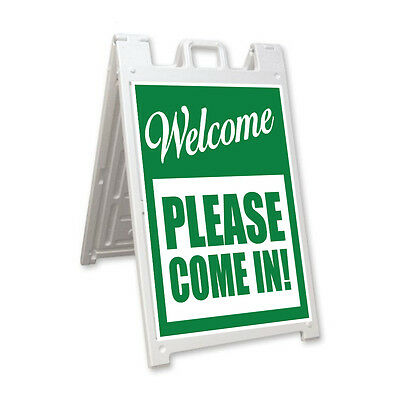 Please Come In Signicade A-frame Sign Sidewalk Sandwich Pavement Street Sign