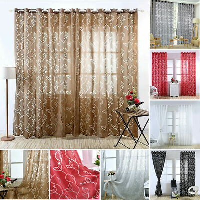 Modern Window Curtains Blinds Finished Drapes Panel for Living Room - Curtains Decorations