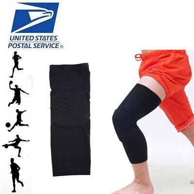 Hot Kids Adult Basketball Leg Knee Pad Long Sleeve Protector Gear Crashproof UPS - $3.99