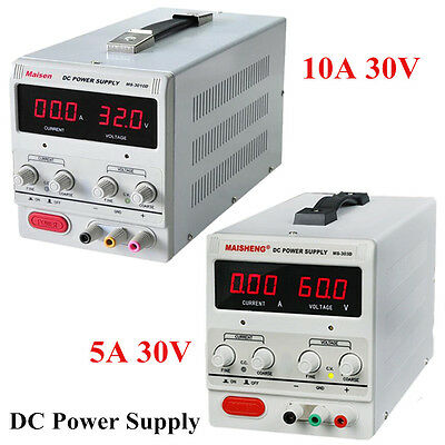 5a10a 30v Dc Power Supply Adjustable Dual Digital Variable Precision Lab Grawx