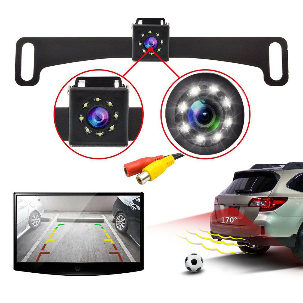 Brand New CMOS Hidden License Plate Rearview Back Up Camera