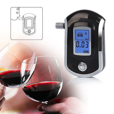 Prefessional Police Digital Breath Alcohol Tester Breathalyser Analyzer Detector