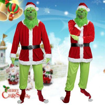 Das Grinch Kostüm Weihnachten Cosplay Adult Santa Kostüm - Grinch Kostüme Maske