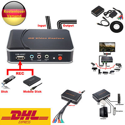 New HD 1080p HDMI/YPbpr Game Capture hd Video Recorder For Game Players DE