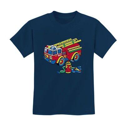 Boy Birthday Ideas (Fire Truck Kids T-Shirt Fire Fighter Boys Birthday Gift Idea Christmas)