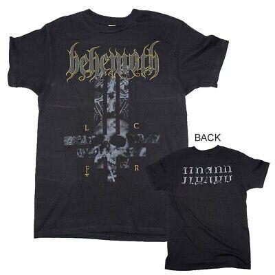 Two Sided Graphics - Behemoth LCFR Cross Logo Two-Sided Graphics Rock Metal Band Men's Black T-Shirt