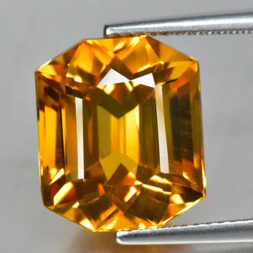 7.80Ct Brilliant Fancy Cut, 100% Natural Vivid Golden Yellow Citrine Gemstone