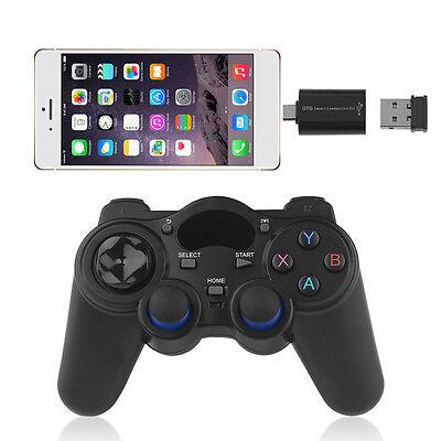 2 4G Regulador Del Juego De Gamepad Joystick Para Tv Pc Box   Otg Convertidor Lo