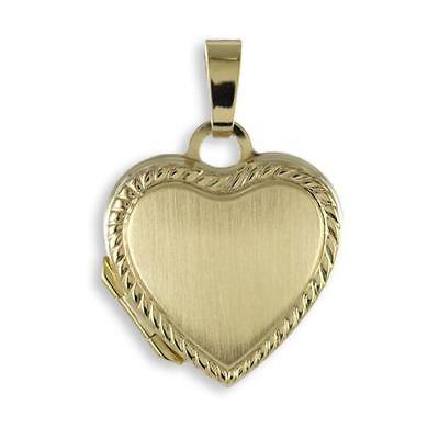 Herz Medaillon 333 Gold Muttertag Valentinstag Liebe Schmuck Medaillon Amulett ()
