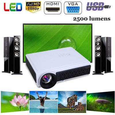 Multimedia HD WiFi Android Bluetooth 3D LED Home Cinema Projector 2500 Lumens BP