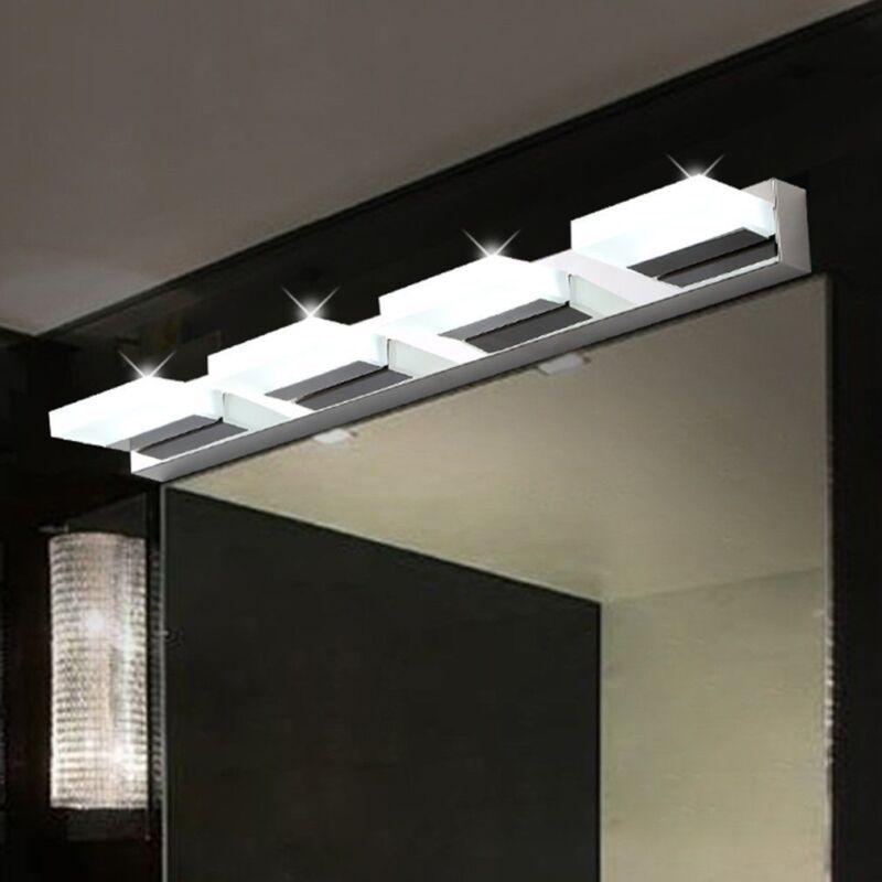 12W Bathroom LED Light Crystal Wall Fixture Sconce Makeup Mi