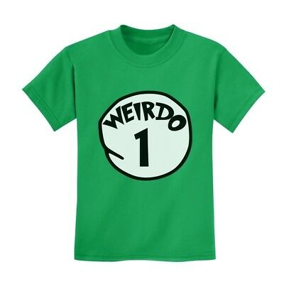 Weirdo 1 Kids T-Shirt Matching Couple 2 Thing Seuss Gift Idea Costume Youth Top - Couples Costume Ideas