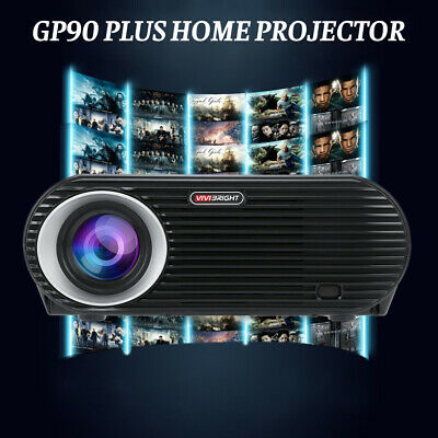 BEST 4K 1080p LED Smart Home Theater Projector USB HD 3D Video Movie VGA HDMI HT