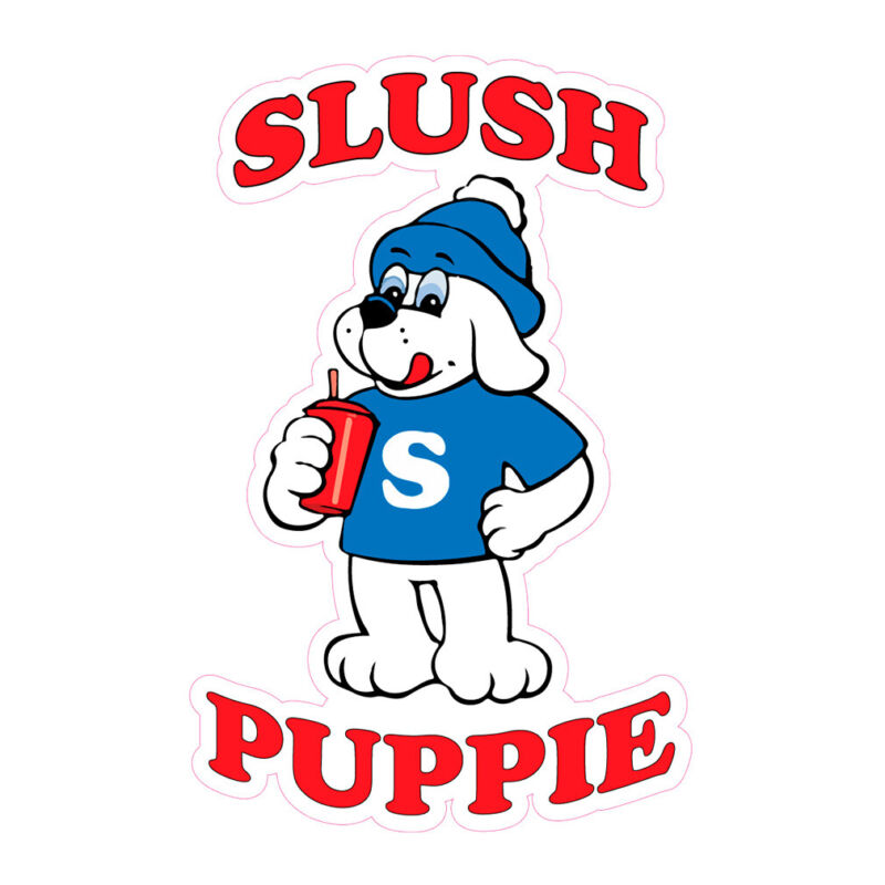 Slush Puppie Concession Restaurant Food Truck Die-Cut Vinyl Sticker