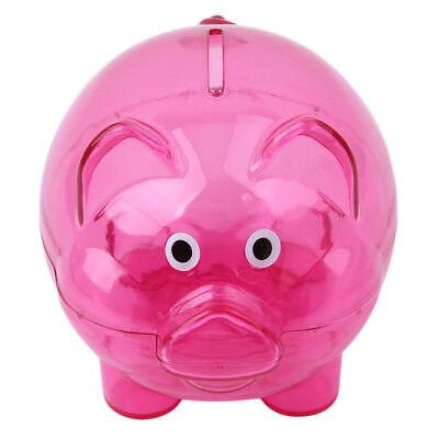 Plastic Piggy Bank (Lovely Cartoon Pig Coin Piggy Bank Money Saving Box Home Kids Birthday Gift)