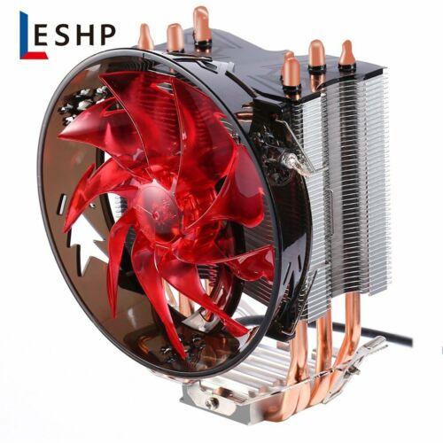 New Red CPU Cooler Copper Four Heat Pipe CPU Radiator Brass