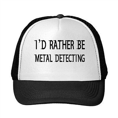 I'D Rather Be Metal Detecting Funny Adjustable Trucker Hat Cap