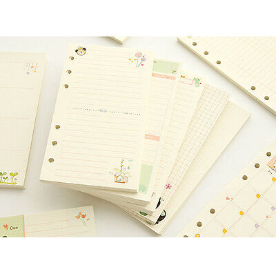 A5a6 Month Week Ruled Colourful Organiser Planner Diary Insert Refill Schedule
